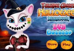 Игры Говорящая Анжела Макияж на Хеллоуин