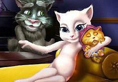 Игры Говорящая Анжела родила котенка