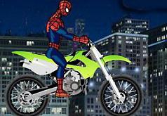 Игры Человекпаук на мотоцикле Соревнование