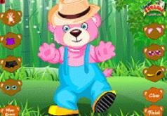 игры веселый розовый мишка