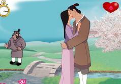 Игры Принц целует принцессу Мулан