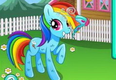 Игры Мой Маленький Пони Уход за Рейнбоу Дэш