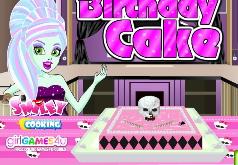 игры монстр день рождения торт