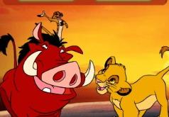Игра Король Лев одинаковые фигуры