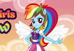 игры пони одевалки девушки эквестрии радуга