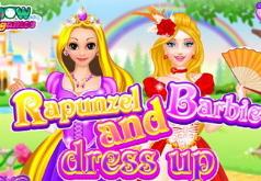 Игры Одень Барби и Рапунцель