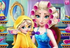 игры для девочек эльза мама