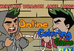игры американский дракон джейк лонг раскраски