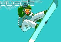 сноуборд на двоих флеш игра