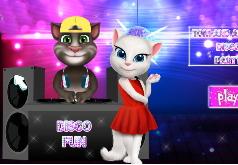 Игры Кот Том и Анжела на дискотеке