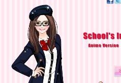 аниме школьные игры
