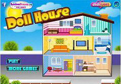 Игры Обставляем кукольный домик
