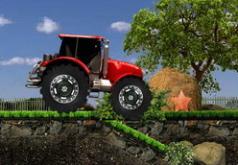 игра тракторы желтый красный