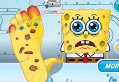 Игры Раненая нога Спанч Боба