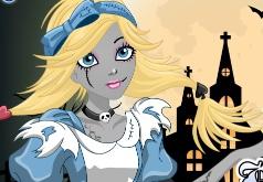 Игра Алиса зомби Одевалка