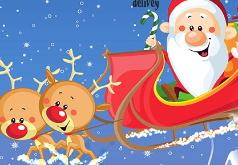 Игра Санта и Рудольф Поездка на санях