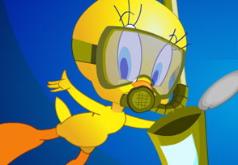 Игры Луни Тюнз Малыш Твити чистит океан