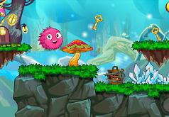 пушистый розовый шарик игра