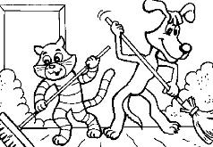 Игра Игра Раскраска Уборка в Простоквашино