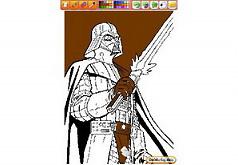 Игры Звездные войны раскраска Дарта Вейдера
