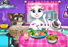 Игра Том и Анжела Весёлый ужин