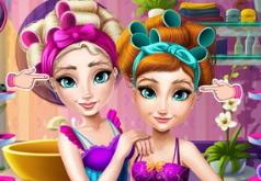 игры для девочек эльза и анна макияж