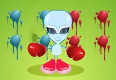 Игра Дерущийся микроб инопланетянин