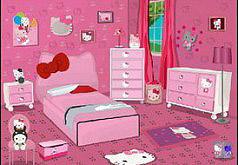 Игры Спальня в стиле Хелло Китти