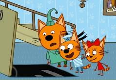 Игры Собери пазл с Тремя котами