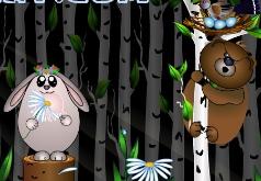 игра зайчата в лесу