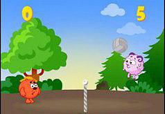 Игра Смешарики Лесной волейбол