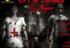 Игры Город зомби и ниндзя 3д