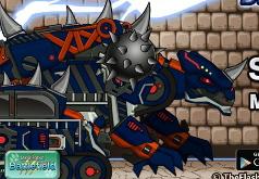 Игры Роботы Динозавры Чёрный Сколозавр