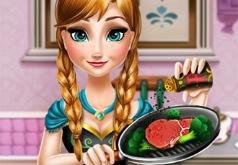 игры для девочек анна готовит еду