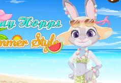 Игры Зверополис Пляжный наряд Джуди Хопс