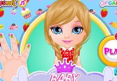 Игра Малышка Барби Сумасшедший маникюр