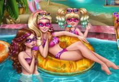 Игры Супер Барби: вечеринка у бассейна