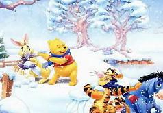 Игра в снежки Пазл