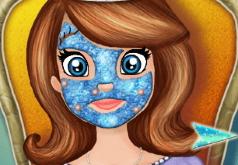 Игры София Прекрасная делает маски для лица
