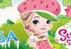 Игры Elsa как земляничное песочное печенье