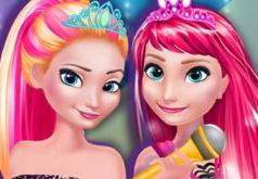игры для девочек одевалка принцесс эльза анна
