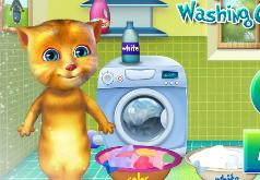 Игры Джинджер стирает одежду