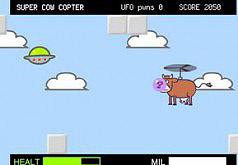 Игра Супер Корова на Вертолете