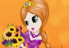 Игры Прическа принцессы цветов