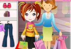 игры мама и дочка идут в магазин