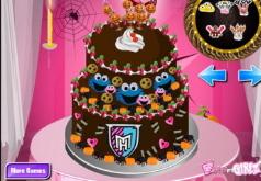игры монстр высокий торт деко