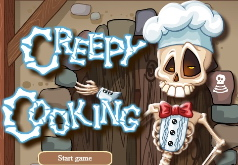 игра скелет готовит еду
