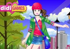 игры стильная патин девушка
