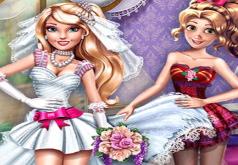 Игра Хлоя и Эмма: Свадебное платье
