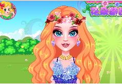 игры цветы и кружево макияж